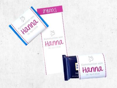 personalisierte Schokoladenbanderole