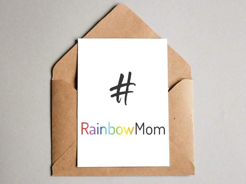 "Karte ""RainbowMom"" - 1"