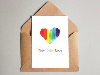 """Karte """"RegenbogenBaby"""""""