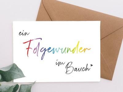 """Karte """"Folgewunder"""" - 1"""