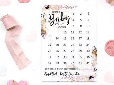 "Baby-Countdown ""Boho"" - 1"