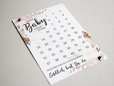 "Baby-Countdown ""Boho"" - 2"