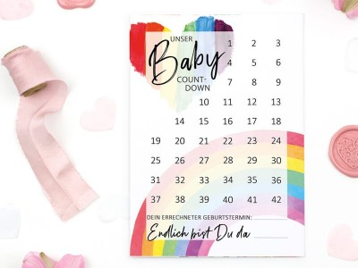 "Baby-Countdown ""Rainbow"" - 1"