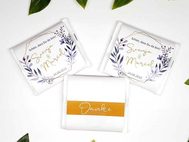 "personalisierte Schokoladenbanderole ""Elegance"" - 1"