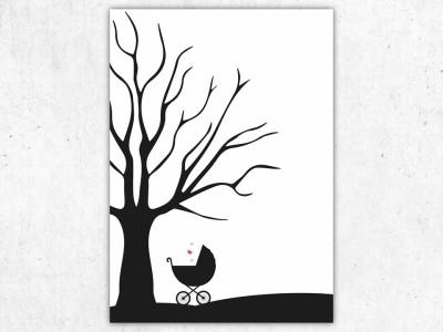 Fingerabdruckbaum zur Taufe - 2
