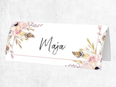 """25x Platzkarten """"Flowers"""" - 1"""