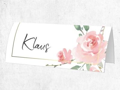 "25x Platzkarten ""Roses"""