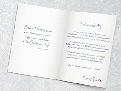 Einladung Geburtstag - 2
