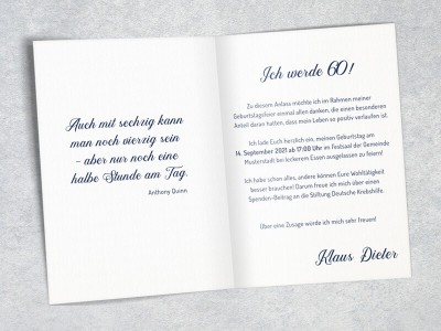 "Einladung Geburtstag ""Elegance"" - 4"