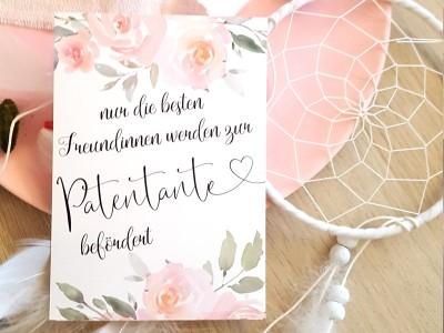 "Karte ""Patentante"" Roses - 2"