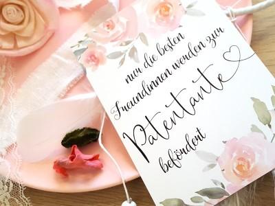 "Karte ""Patentante"" Roses - 3"