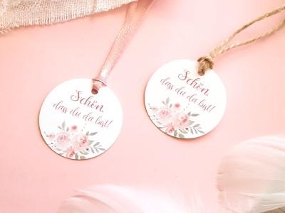 """25x Geschenkanhänger """"Roses"""""""