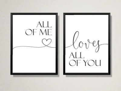 "2er Set Poster ""All Of Me Loves All Of You"" - 1"