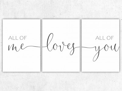 "3er Set Poster ""All Of Me Loves All Of You"" - 2"