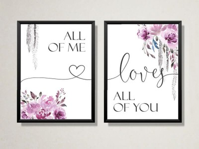 "2er Set Poster ""All Of Me Loves All Of You"""