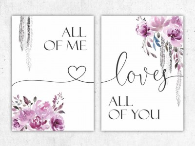"2er Set Poster ""All Of Me Loves All Of You"" - 2"