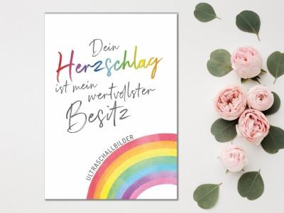 """Erinnerungsmappe Ultraschallbilder """"Rainbow"""" - 1"""