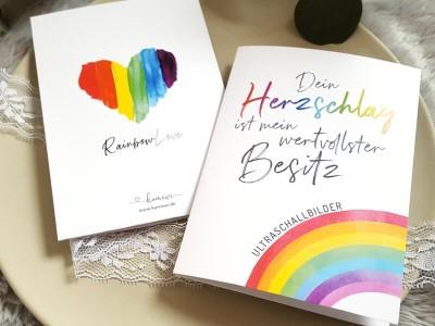 """Erinnerungsmappe Ultraschallbilder """"Rainbow"""" - 4"""