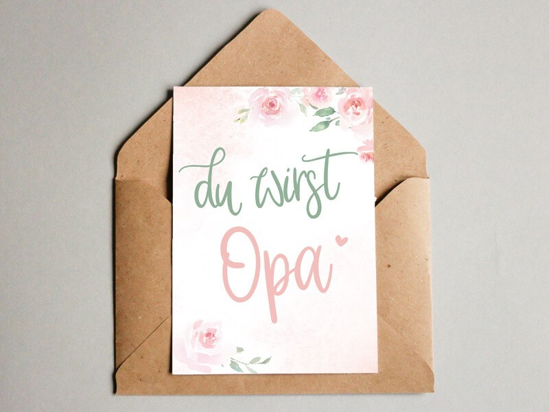 "Karte ""Opa"" Blurry Dream - 1"