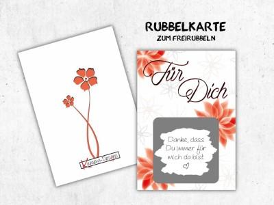"""25x Rubbelkarten """"Für Dich"""" - 1"""