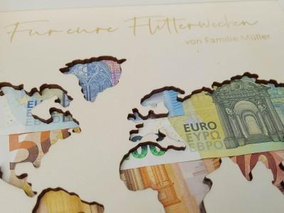 """Geldgeschenk Rahmen """"World"""" - 3"""
