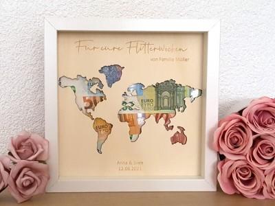 """Geldgeschenk Rahmen """"World"""" - 1"""