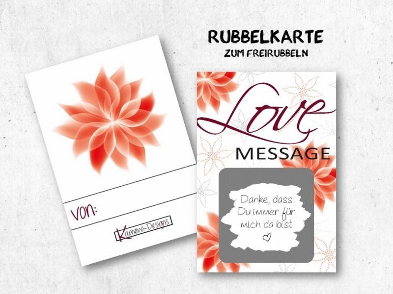 """5x Rubbelkarten """"Love Message"""" - 1"""