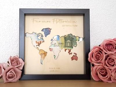 """Geldgeschenk Rahmen """"World"""" - 2"""
