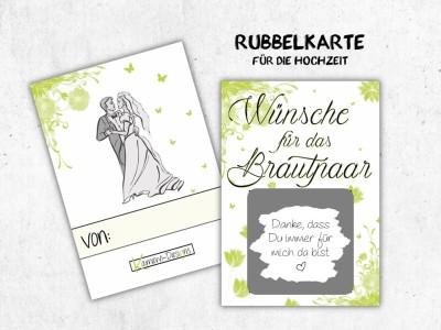 """25x Rubbelkarten """"Wünsche für das Brautpaar"""""""