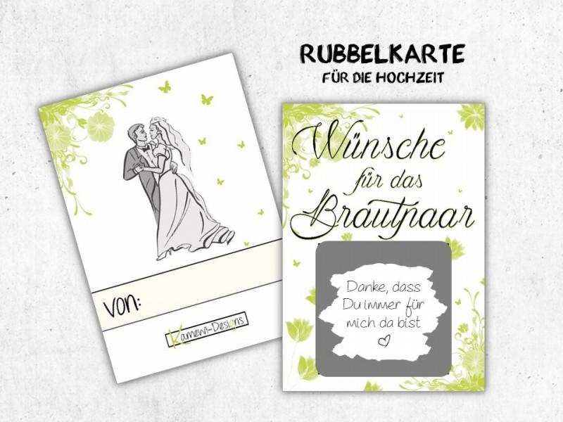 """25x Rubbelkarten """"Wünsche für das Brautpaar"""" - 1"""