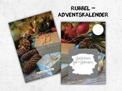 "Rubbelkarten Adventskalender ""Gifts"" - 1"