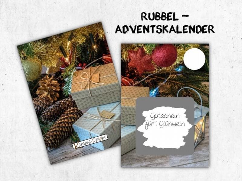 """Rubbelkarten Adventskalender """"Gifts"""" - 1"""