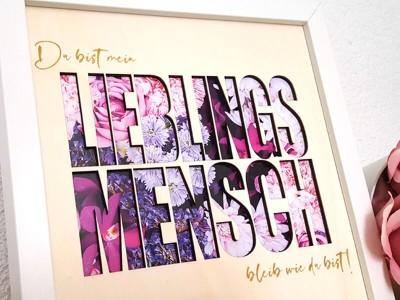 """Bilderrahmen """"Lieblingsmensch"""" - 2"""