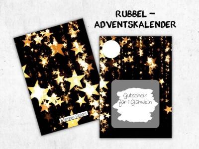 "Rubbelkarten Adventskalender ""Stars"" - 1"