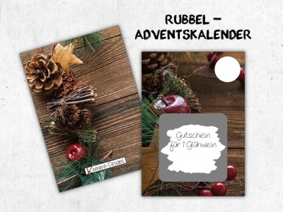 "Rubbelkarten Adventskalender ""Pinecone"" - 1"