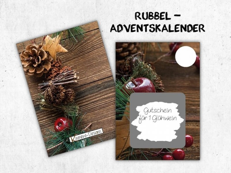 "Rubbelkarten Adventskalender ""Pinecone"" - 1"