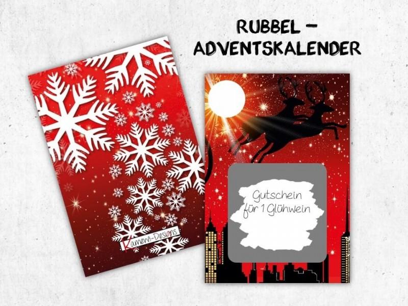 """Rubbelkarten Adventskalender """"Reindeer"""" - 1"""