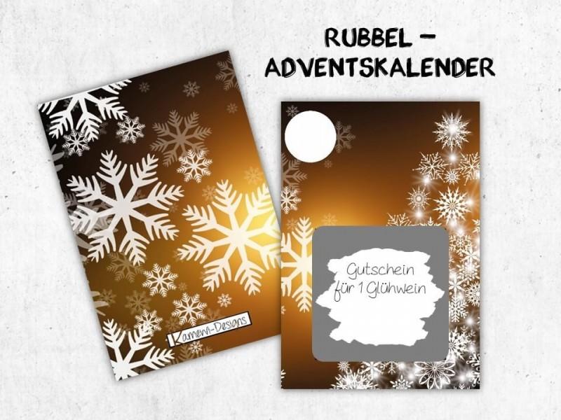 """Rubbelkarten Adventskalender """"Twinkle"""" - 1"""