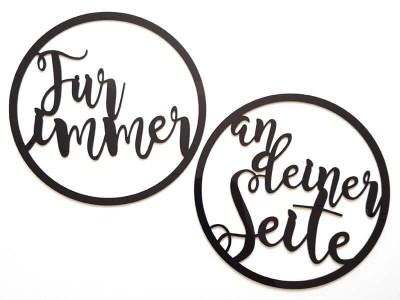 """Stuhlschilder """"Für Immer An Deiner Seite"""" - 1"""
