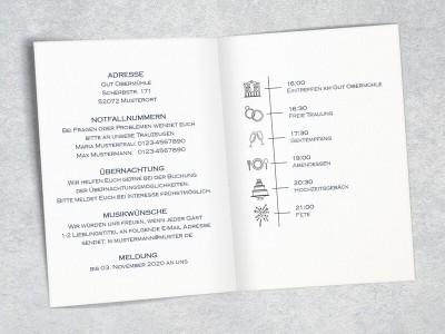 """Einladung Hochzeit """"Elegance"""" Klappkarte - 3"""