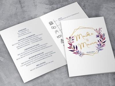 """Einladung Hochzeit """"Elegance"""" Klappkarte - 2"""