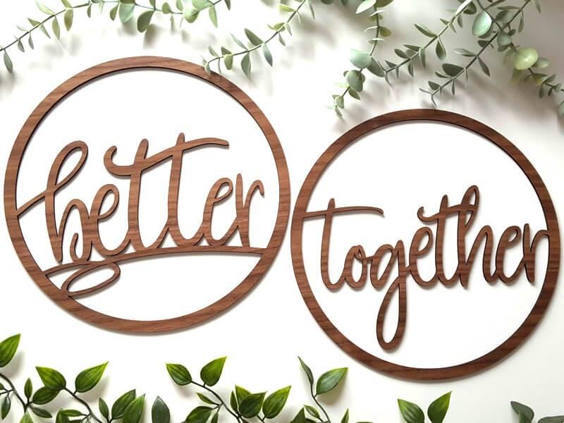 """Stuhlschilder """"Better together"""" - 1"""