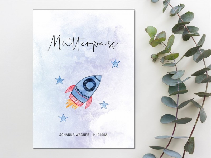 "Mutterpass Hülle ""Rocket"" - 1"