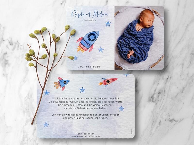 "Geburtskarte ""Rocket"" - 1"