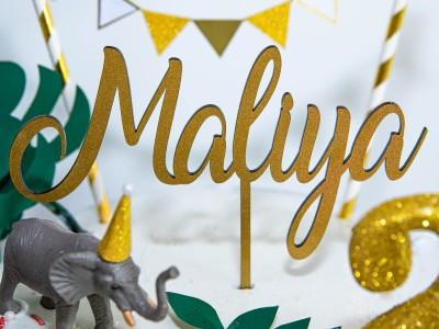 "Cake Topper ""Maliya"" - 1"