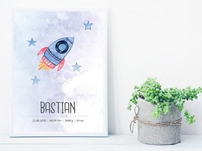 """Geburtsposter """"Rocket"""" - 2"""