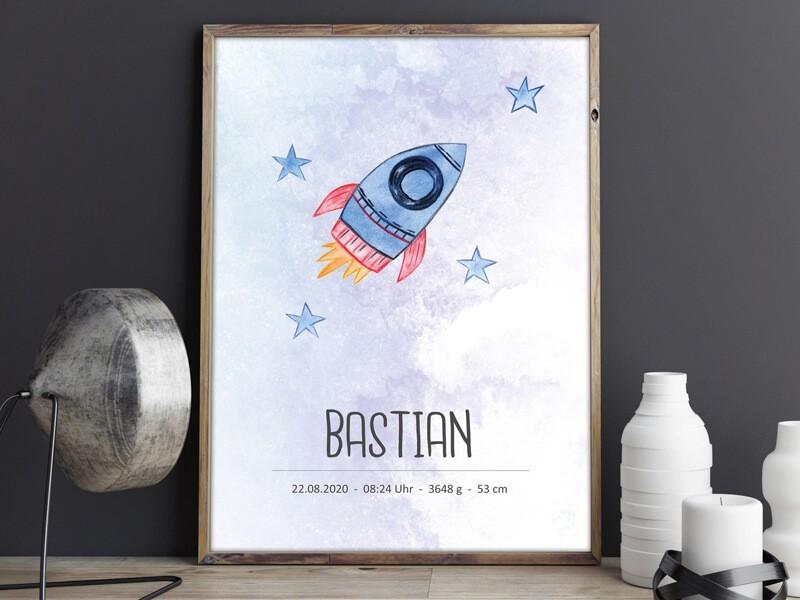 """Geburtsposter """"Rocket"""" - 1"""