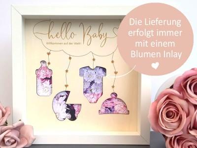 """Geldgeschenk Rahmen """"Hello Baby"""" - 3"""