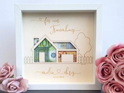 """Geldgeschenk Rahmen """"Traumhaus"""" - 1"""