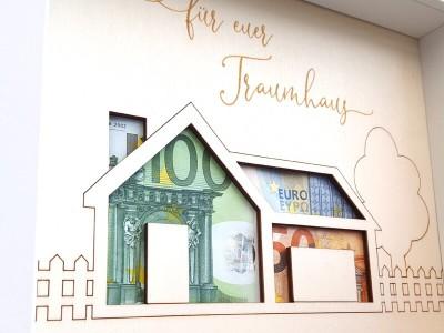 """Geldgeschenk Rahmen """"Traumhaus"""" - 2"""